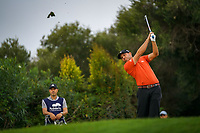 Sergio Garcia (ESP) tees off the 11th tee during Monday's storm delayed Final Round 3 of the Andalucia Valderrama Masters 2018 hosted by the Sergio Foundation, held at Real Golf de Valderrama, Sotogrande, San Roque, Spain. 22nd October 2018.<br /> Picture: Eoin Clarke | Golffile<br /> <br /> <br /> All photos usage must carry mandatory copyright credit (&copy; Golffile | Eoin Clarke)