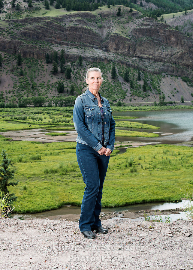 Michelle Pierce in Lake City, Colorado, Tuesday, July 7, 2015. Lake City is located in the San Juan Mountains in a valley formed by the convergence of Henson Creek and the headwaters of the Lake Fork of the Gunnison River about seven miles east of Uncompahgre Peak, a Colorado fourteener. Lake San Cristobal is the second largest natural lake.<br /> <br /> Photo by Matt Nager