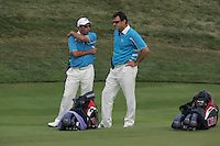 Faldo & Olazabal on the 17th hole in Saturday foursomes at the 37th Ryder Cup at Valhalla Golf Club, Louisville, Kentucky, USA - 20th September 2008 (Photo by Manus O'Reilly/GOLFFILE)