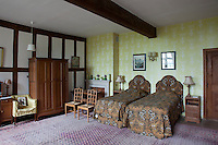 One of the bedrooms furnished with pieces from the Cotswold Group of craftsmen