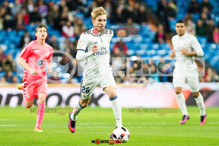 "Real Madrid's Martin Odegaard during the match of ""Copa del Rey"" between Real Madrid and Cultural Leonesa at Santiago Bernabeu Stadium in Madrid, Spain. November 29, 2016. (ALTERPHOTOS/Rodrigo Jimenez) /NORTEPHOTO.COM"