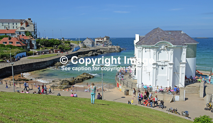GV, general view, Arcadia, bathing area, Portrush, Co Antrim, N Ireland, UK, 201406213167<br />