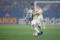 Carson, CA - Saturday August 12, 2017: Jonathan dos Santos during a Major League Soccer (MLS) game between the Los Angeles Galaxy and the New York City FC at StubHub Center.