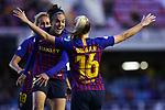 UEFA Women's Champions League 2018/2019.<br /> Quarter Finals.<br /> FC Barcelona vs LSK Kvinner FK: 3-0.<br /> Kheira Hamraoui, Toni Duggan & Melanie Serrano.