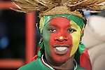 19 JUN 2010: A Cameroon fan, pregame. The Denmark National Team defeated the Cameroon National Team 2-1 at Loftus Versfeld Stadium in Tshwane/Pretoria, South Africa in a 2010 FIFA World Cup Group E match.
