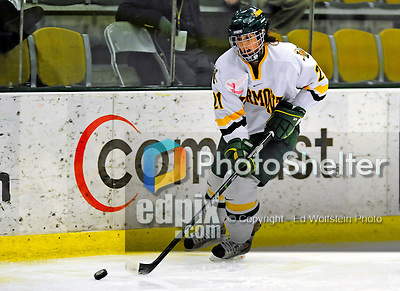 8 February 2009: University of Vermont Catamounts' defenseman Melanie Greene, a Junior from Queensbury, NY, in action against the University of New Hampshire Wildcats in the second game of a weekend series at Gutterson Fieldhouse in Burlington, Vermont. The Wildcats defeated the lady Catamounts 6-2 to sweep the 2-game series. Mandatory Photo Credit: Ed Wolfstein Photo