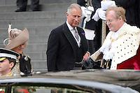 LONDRES, INGLATERRA, 05 DE JUNHO 2012 - JUBILEU DE DIAMANTE DA RAINHA ELIZABETH - O principe Charles chega a Catedral de Sao Paulo durante o Jubileu de Diamante da Rainha Elizabeth em Londres capital do Reino Unido, nesta terça-feira, 05. (FOTO: BILLY CHAPPEL / ALFAQUI / BRAZIL PHOTO PRESS)