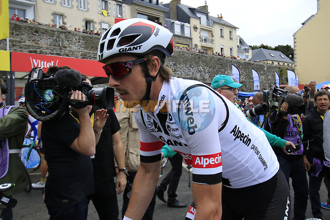 John Degenkolb (GER) Team Giant-Alpecin at sign on before the start of Stage 3 of the 2016 Tour de France, running 223.5km from Granville to Angers, France . 4th July 2016.<br /> Picture: Eoin Clarke | Newsfile<br /> <br /> <br /> All photos usage must carry mandatory copyright credit (&copy; Newsfile | Eoin Clarke)