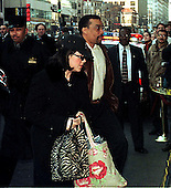 Washington, DC - January 30, 1999 -- Monica Lewinsky, accompanied by attorney Billy Martin, arrives at the Mayflower Hotel where her testimony in the President's Impeachment trial will be taken..Credit: Ron Sachs / CNP