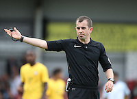 Referee Peter Banks during the International match between England U20 and Brazil U20 at the Aggborough Stadium, Kidderminster, England on 4 September 2016. Photo by Andy Rowland / PRiME Media Images.