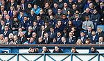 16.02.2019 Rangers v St Johnstone:  Allan McGregor and Alfredo Morelos sitting out the match in the main stand