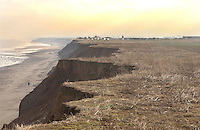 Land being eroded by the sea at Mappleton, Hornsey, East Yorkshire.