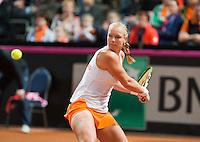 Februari 08, 2015, Apeldoorn, Omnisport, Fed Cup, Netherlands-Slovakia, Kiki Bertens (NED)  <br /> Photo: Tennisimages/Henk Koster