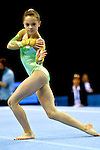 10.7.2011 The Womens Artistic British Championships  from the Echo Arena in Liverpool.Angel Romaeo during the Junior Floor Final