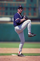 Boston Red Sox pitcher Scott Taylor (56) during Spring Training 1993 at McKechnie Field in Bradenton, Florida.  (MJA/Four Seam Images)