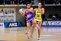 Stars&rsquo; Fa&rsquo;amu Ioane in action during the ANZ Premiership - Pulse v Northern Stars at Te Rauparaha Arena, Porirua, New Zealand on Monday 25 June 2018.<br /> Photo by Masanori Udagawa. <br /> www.photowellington.photoshelter.com