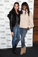 Lorraine Pascal &amp; daughter arriving for the Natural History Museum Ice Rink launch party 2017, London, UK. <br /> 25 October  2017<br /> Picture: Steve Vas/Featureflash/SilverHub 0208 004 5359 sales@silverhubmedia.com