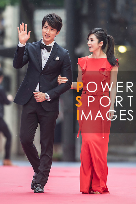 Celebrities and VIP's on the red carpet during the opening of the Mission Hills Celebrity Pro-Am on 24 October 2014, in Haikou, China. Photo by Victor Fraile / Power Sport Images