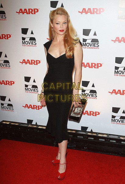 CHARLOTTE ROSS.AARP The Magazine's 10th Annual Movies For Grownups Awards held At The Beverly Wilshire Hotel, Hollywood, California, USA..February 7th, 2011.full length black dress red ankle strap shoes clutch bag.CAP/ADM/KB.©Kevan Brooks/AdMedia/Capital Pictures.