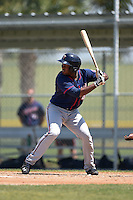 Minnesota Twins J.D. Williams (43) during a minor league spring training game against the Baltimore Orioles on March 28, 2015 at the Buck O'Neil Complex in Sarasota, Florida.  (Mike Janes/Four Seam Images)