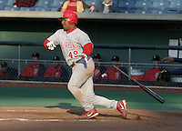 May 5, 2004:  /c/ Michel Hernandez (49) of the Scranton-Wilkes Barre Red Barons, Class-AAA International League affiliate of the Philadelphia Phillies, during a game at P&C Stadium in Syracuse, NY.  Photo by:  Mike Janes/Four Seam Images