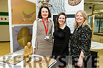 Kerry College of Further Education Art, Craft and Design Exhibition. showcasing Post Leaving Certificate QQI Level 5 Art, Craft and Design students work on Thursday. Pictured Eileen Kennedy, Teacher,  Longina Wentrys, Student  and Mary Kirby, Teacher