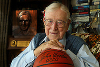 John Wooden, 92, in his Encino home, will be in attendance this weekend at the 9th Annual John R. Wooden Classic at the Anaheim Pond.