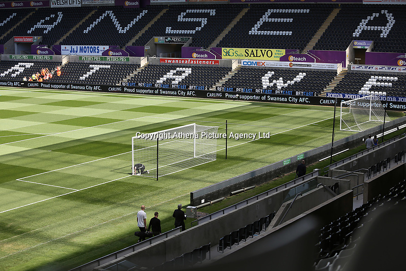 A general view of Liberty Stadium prior to kick off of the Premier League match between Swansea City and Stoke City at The Liberty Stadium, Swansea, Wales, UK. Saturday 22 April 2017