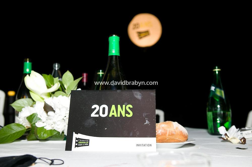 Diner, 20 ans de la Fondation Groupama-Gan pour le Cinema, Cannes, France, 18 mai 2007.