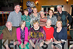 HAPPY BIRTHDAY: Ann Donnolly, Oakpark, Tralee (seated centre) who had a great time celebrating her 60th birthday last Saturday night in the Meadowslands hotel, Tralee with (seated) l-r: Dermot Curren, Eileen O'Halloran, Ann Donnolly, Joy Lordan and Maura Wallace. Back l-r: Denis Lordan, Sylvia O'Sullivan, Chrissy O'Donoghue, Maureen Deane, Mary Cantillon and Michael Wallace.