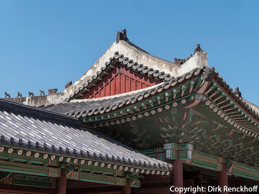 Thronhalle Injeongjeon im Changdeokgung Palast, Seoul, S&uuml;dkorea, Asien, UNESCO-Weltkulturerbe<br /> throne hall Injeongjeon in palace Changdeokgung,  Seoul, South Korea, Asia UNESCO world-heritage