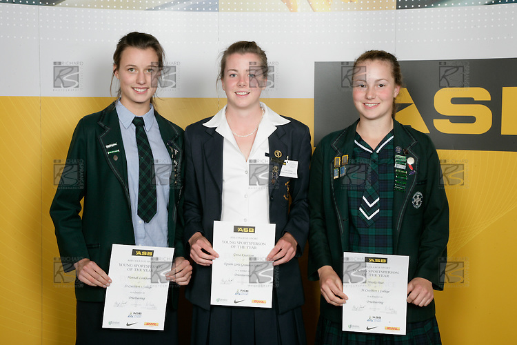 Girls Orienteering finalists Hannah Linkhorn, Greta Knarston & Nicla Peat. ASB College Sport Young Sportperson of the Year Awards 2007 held at Eden Park on November 15th, 2007.