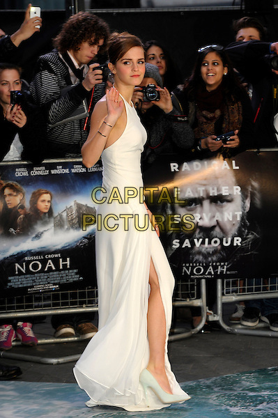 LONDON, ENGLAND - MARCH 31: Emma Watson attends the UK Premiere of 'Noah' at the Odeon Leicester Square on March 31, 2014 in London, England<br /> CAP/CJ<br /> &copy;Chris Joseph/Capital Pictures