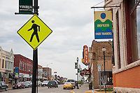 The bustling small town downtown of Viroqua Wisconsin heart of the Driftless Area.