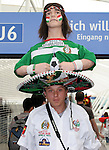 09 June 2006: A Mexico fan with an Indian warrior on top of his sombrero. Germany played Costa Rica at the Allianz Arena in Munich, Germany in the opening match, a Group A first round game, of the 2006 FIFA World Cup.