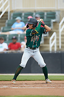 Ji-Hwan Bae (51) of the Greensboro Grasshoppers at bat against the Piedmont Boll Weevils at Kannapolis Intimidators Stadium on June 16, 2019 in Kannapolis, North Carolina. The Grasshoppers defeated the Boll Weevils 5-2. (Brian Westerholt/Four Seam Images)