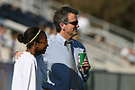 08 November 2009: UNC head coach Anson Dorrance (right) with Nikki Washington. The University of North Carolina Tar Heels defeated the Florida State University Seminoles 3-0 at WakeMed Stadium in Cary, North Carolina in the Atlantic Coast Conference Women's Soccer Tournament Championship game.