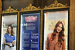 Theatre Marquee for Katharine McPhee starring in 'Waitress' at the Brooke Atkinson Theatre on April 10, 2018 in New York City.