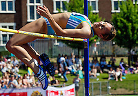 23 MAY 2010 - LOUGHBOROUGH, GBR - Jessica Ennis clears the bar at 1.93m in the Womens High Jump at the Loughborough International Athletics (PHOTO (C) NIGEL FARROW)