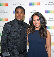"""Kenneth """"Babyface"""" Edmonds and Nicole Edmonds arrive for the formal Artist's Dinner honoring the recipients of the 40th Annual Kennedy Center Honors hosted by United States Secretary of State Rex Tillerson at the US Department of State in Washington, D.C. on Saturday, December 2, 2017. The 2017 honorees are: American dancer and choreographer Carmen de Lavallade; Cuban American singer-songwriter and actress Gloria Estefan; American hip hop artist and entertainment icon LL COOL J; American television writer and producer Norman Lear; and American musician and record producer Lionel Richie. Photo Credit: Ron Sachs/CNP/AdMedia"""