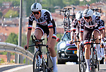 Team Sunweb in action during Stage 1 of the Madrid Challenge by La Vuelta, a team time trial running 12.6km from Boadilla del Monte to Boadilla del Monte, Spain. 15th September 2018.                   <br /> Picture: Unipublic/Vicent Bosch | Cyclefile<br /> <br /> <br /> All photos usage must carry mandatory copyright credit (&copy; Cyclefile | Unipublic/Vicent Bosch)