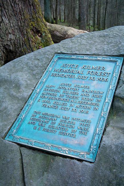 Memorial to Joyce Kilmer 1936, Joyce Kilmer Memorial Forest