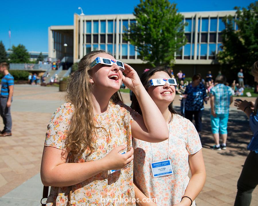 1708-56 116<br /> 1708-56 Solar Eclipse on Campus<br /> <br /> Solar Eclipse on Campus<br /> <br /> <br /> August 21, 2017<br /> <br /> Photography by Madeline Mortensen/BYU<br /> <br /> © BYU PHOTO 2011<br /> All Rights Reserved<br /> photo@byu.edu  (801)422-7322