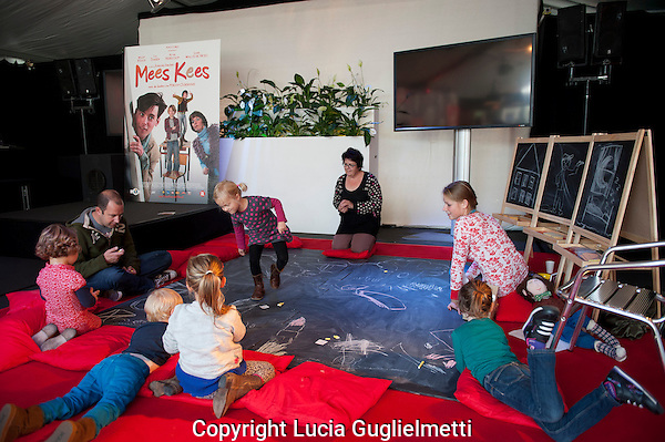 Utrecht, september 29, 2012.NFF Utrecht, .Kinderen Workshop Mees Kees.Nederlands Film Festival.Photo: Lucia Guglielmetti