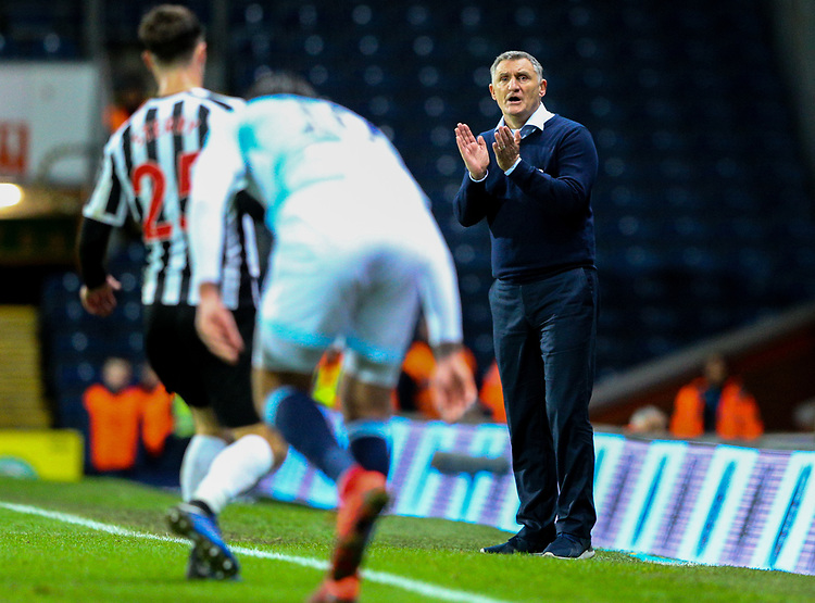 Blackburn Rovers manager Tony Mowbray shouts instructions to his team from the technical area<br /> <br /> Photographer Alex Dodd/CameraSport<br /> <br /> Emirates FA Cup Third Round Replay - Blackburn Rovers v Newcastle United - Tuesday 15th January 2019 - Ewood Park - Blackburn<br />  <br /> World Copyright &copy; 2019 CameraSport. All rights reserved. 43 Linden Ave. Countesthorpe. Leicester. England. LE8 5PG - Tel: +44 (0) 116 277 4147 - admin@camerasport.com - www.camerasport.com