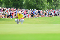 Sergio Garcia (ESP) lines up his putt on 18 during round 4 of the Dean &amp; Deluca Invitational, at The Colonial, Ft. Worth, Texas, USA. 5/28/2017.<br /> Picture: Golffile | Ken Murray<br /> <br /> <br /> All photo usage must carry mandatory copyright credit (&copy; Golffile | Ken Murray)