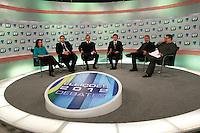 SAO PAULO, 16 E JULHO DE 2012. DEBATES DA RECORD. debate dos candidatos a vice prefeitura de São Paulo na Rede Record em São Paulo. FOTO: ADRIANA SPACA: BRAZIL PHOTO PRESS