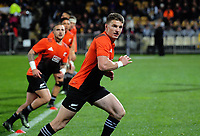 Beauden Barrett warms up for the Rugby Championship match between the NZ All Blacks and Argentina Pumas at Yarrow Stadium in New Plymouth, New Zealand on Saturday, 9 September 2017. Photo: Dave Lintott / lintottphoto.co.nz