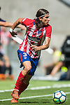 Filipe Luis of Atletico de Madrid in action during the La Liga 2017-18 match between Atletico de Madrid and Sevilla FC at the Wanda Metropolitano on 23 September 2017 in Wanda Metropolitano, Madrid, Spain. Photo by Diego Gonzalez / Power Sport Images