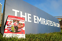 Match day programme infant of an FA Cup banner during Kingstonian vs AFC Fylde, Emirates FA Cup Football at King George's Field on 30th November 2019